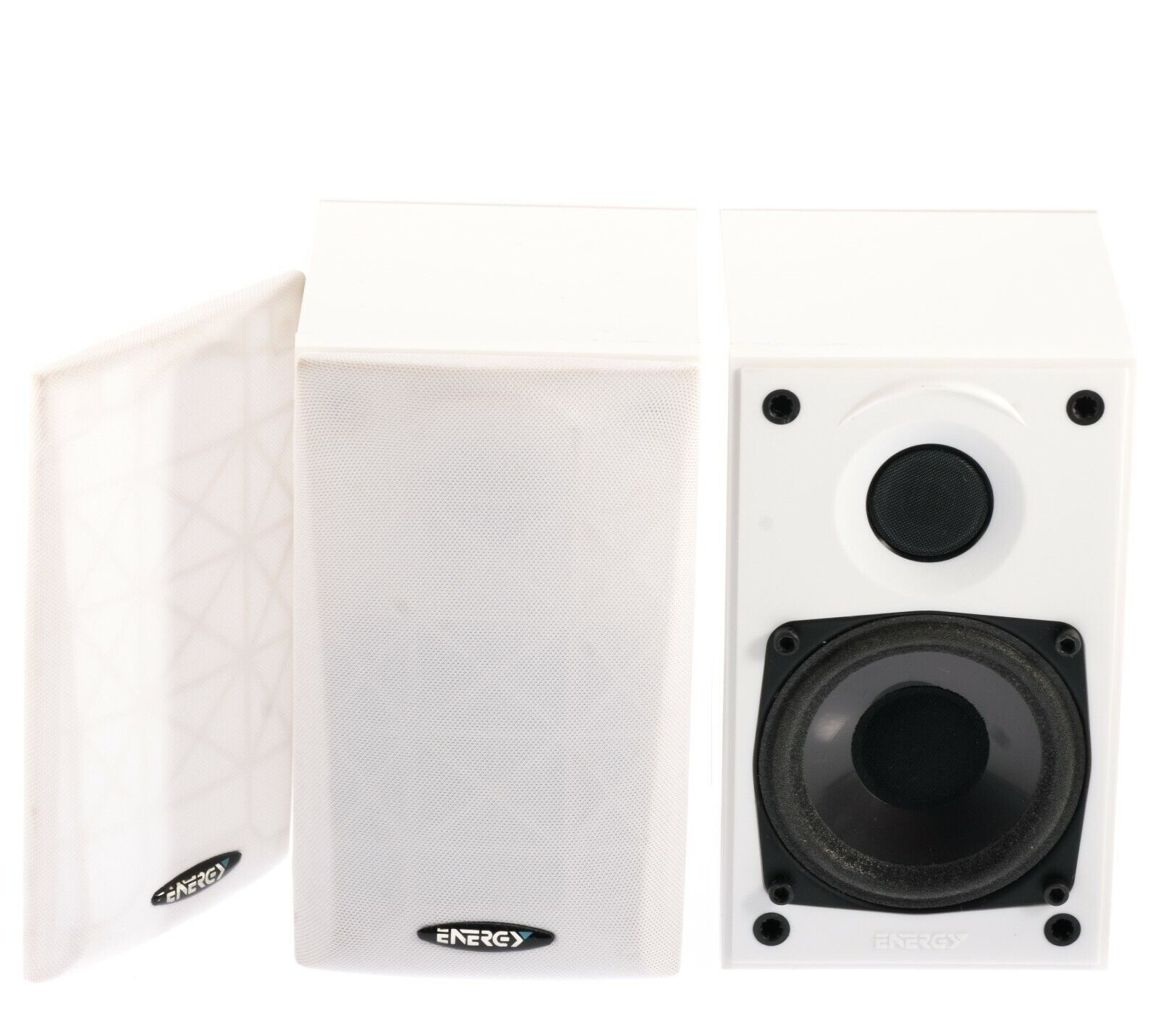 Energy Take 2 Satellite Speakers 1 Pair White Made In Canada VG Tested Klipsch - $59.00
