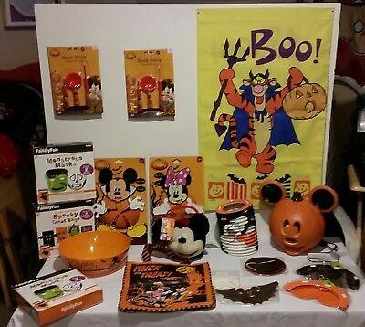 DISNEY 18 Piece HALLOWEEN Decorations Trick or Treat  Mickey Minnie Pooh Tigger  - Halloween Disney Decorations