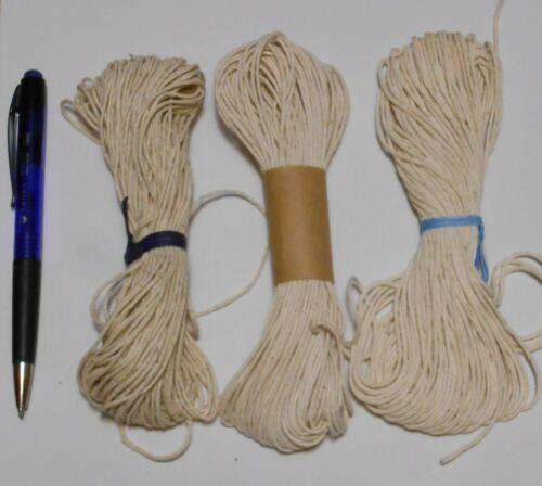 COTTON LACING THREAD cord, rug braiding or weaving BraidCraft  ~ 1) 25 yd bundle