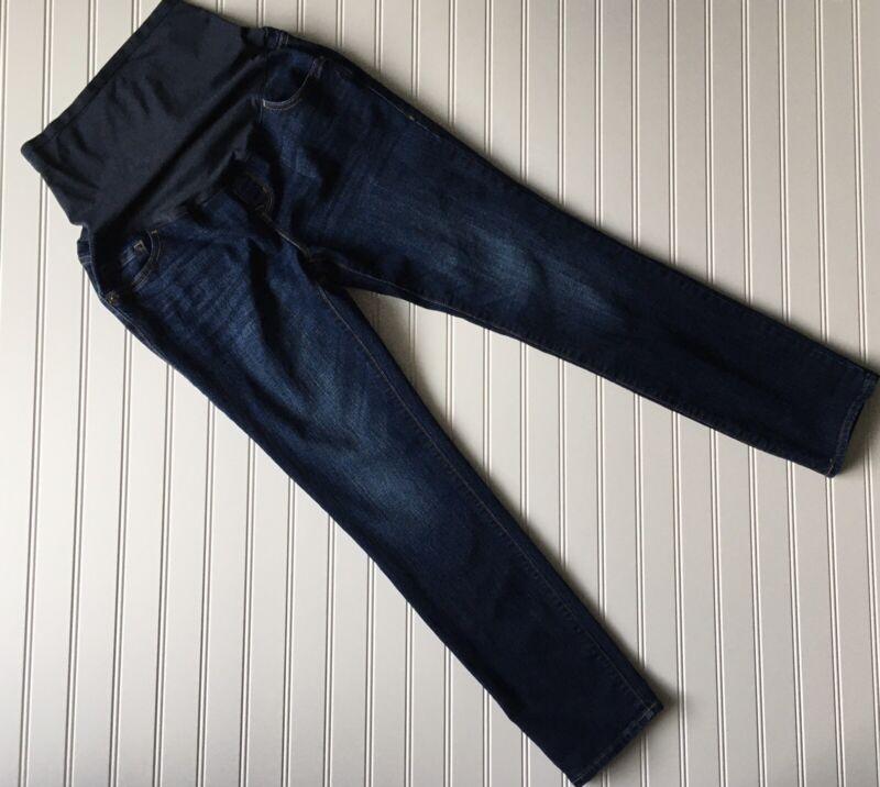 Old Navy Maternity Full Panel Skinny Denim Jeans Size 8 Regular Dark wash