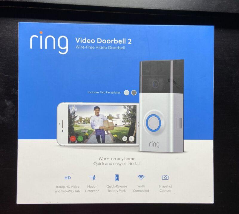 Ring Video Doorbell 2nd Gen - Satin Nickel FAST FREE SHIPPING