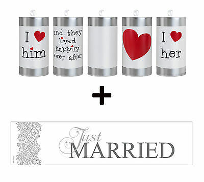 Hochzeitsdosen Just Married Dosen Set Hochzeit Autodosen Brautwagen Brautauto