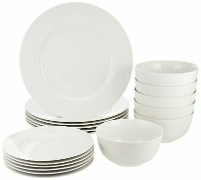 AmazonBasics 18-Piece Dinnerware Set, Service for 6