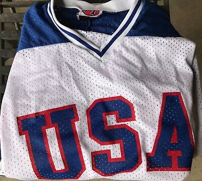 70bdc7e91d5 1980 TEAM USA HOCKEY JERSEY Replica Size XXL MIRACLE ON ICE made in USA K-1