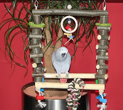 Freisitz Schaukel DOPPELSTEG Schaukel für Papageien Papageienspielzeug **NEU**