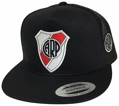- RIVER PLATE SOCCER HAT 2 LOGOS ARGENTINA HAT BLACK MESH