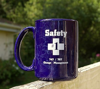 Boeing Coffee Mug Safety #1 747 / 767 Change Management Cross 4 1/2