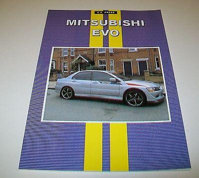 MITSUBISHI EVO ROAD TEST REPRINT BOOK. CP PRESS
