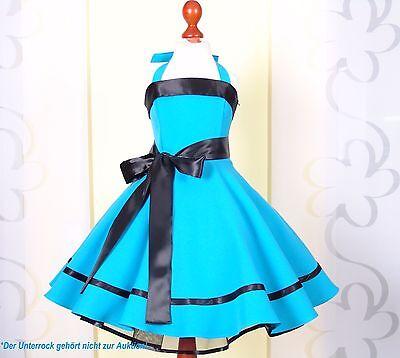 Kleid zum Petticoat 50er Jahre Einschulung, Gr.104-146 türkis (Türkise Mädchen Kleider)