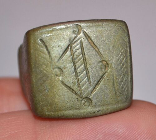 Large African Antique Heavy Tuareg Metal Tribal Ring Niger Africa - Ring Size 8