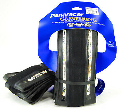 2-PACK Panaracer GravelKing Slick Tire 700x38 Folding Bead, Black Sidewall, PAIR