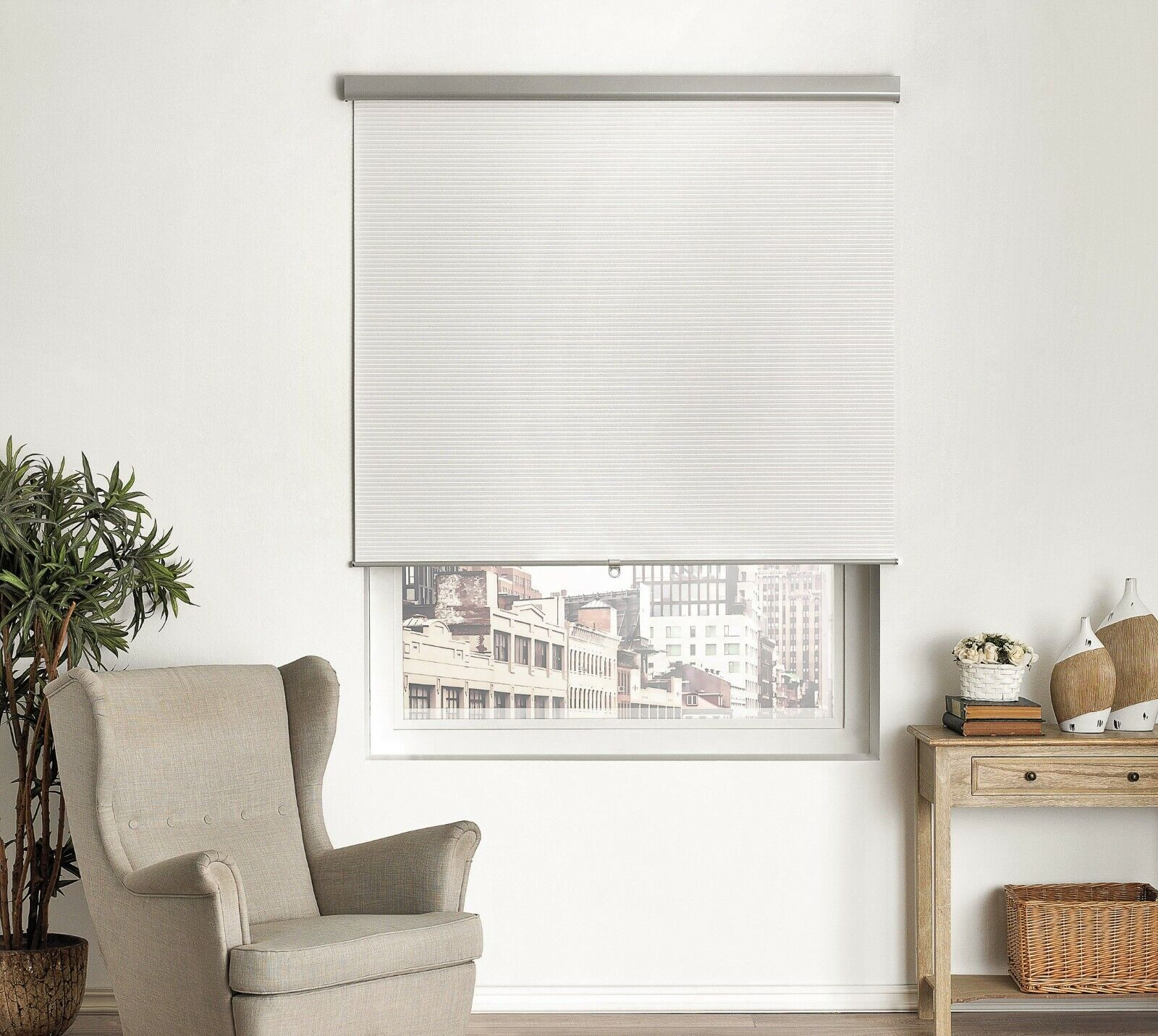 BRIELLE HOME PLEATED CORDLESS ROLLER SHADE Blinds & Shades