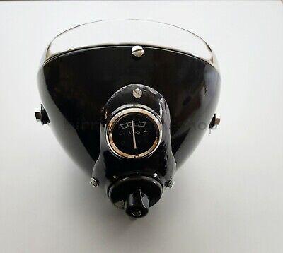 7 LUCAS BLACK HEADLIGHT HEADLAMP SSU700 BSA TRIUMPH NORTON MATCHLESS