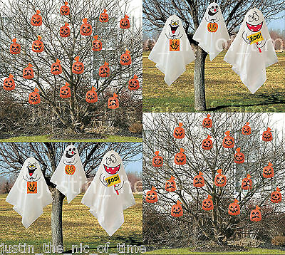 HALLOWEEN PARTY HANGING DECORATIONS INDOOR & OUTDOOR GHOSTS & PUMPKINS