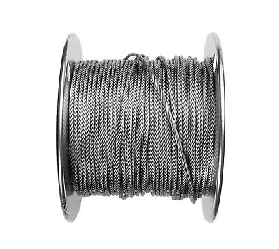 116 Stainless Steel Aircraft Cable Wire Rope 7x7 Strands Grade 304
