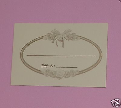 Rose Place Card, Wedding Anniversary Bridal Shower, Luncheon Dinner Party 50p