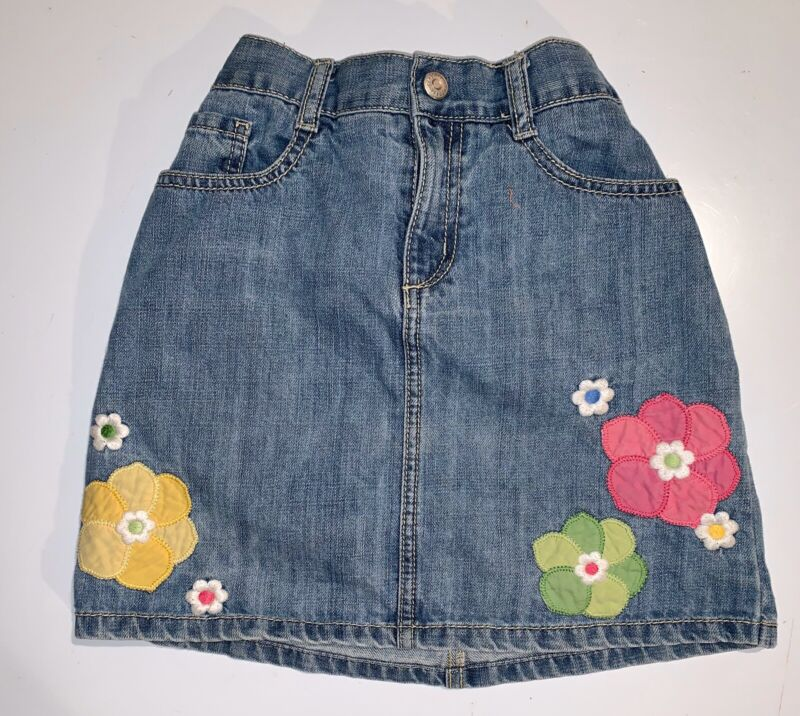 Girls GYMBOREE Blue Denm Skirt ~ Elastic Waist ~ Children Size 10