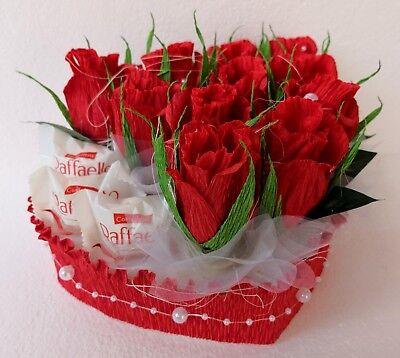 Raffaello Pralinen Herz 20 cm Hochzeit Liebe Geschenk Muttertag Verlobung Ringe