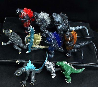 "lot of 10 Godzilla Monsters  Figure set Mecha Fire Godzilla Gigan 3""-4"" #KJ8"