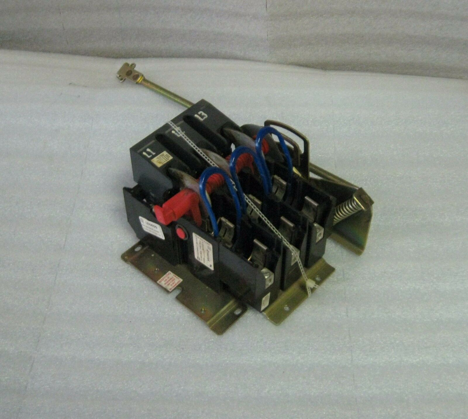 Square D Disconnect, Class 9422, Type TD-3, Complete w/ Mounting Plate, Used