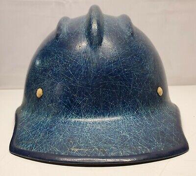 Vintage Ed Bullard Blue Hard Boiled Fiberglass Hard Hat 502 Style Sf- Usa