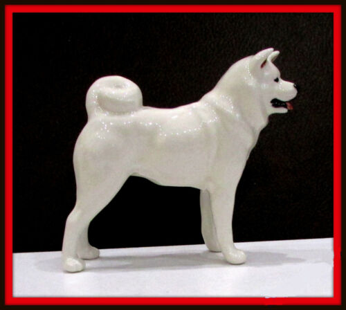 Akita White color porcelain Dog made in Russia souvenir high quality