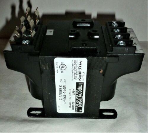 Micron Impervitran 45VA Industrial Control Transformer - B045-1999-1, Series 2