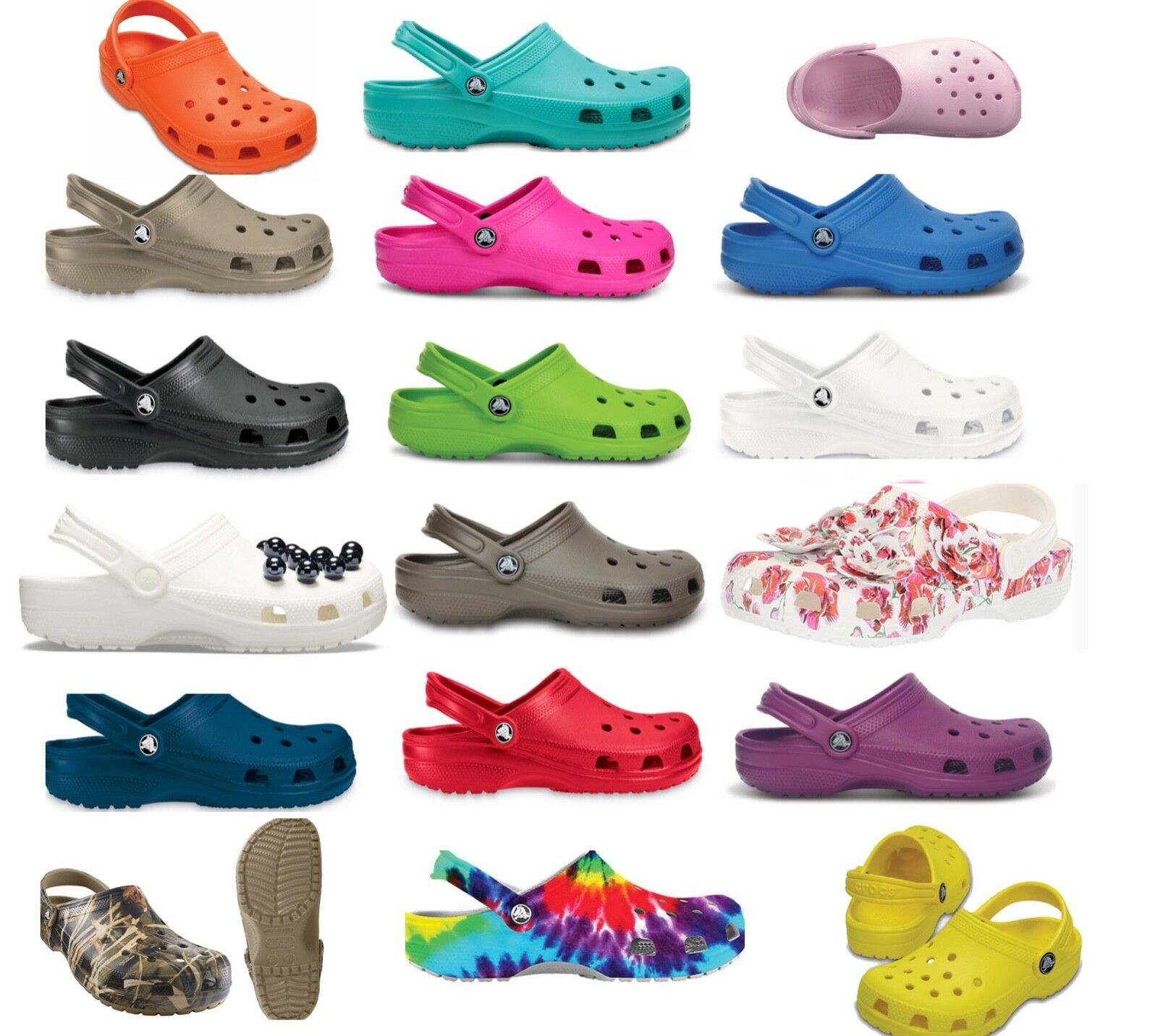 25 + colors, CROCS Original CLASSIC Clogs Shoes sandals size