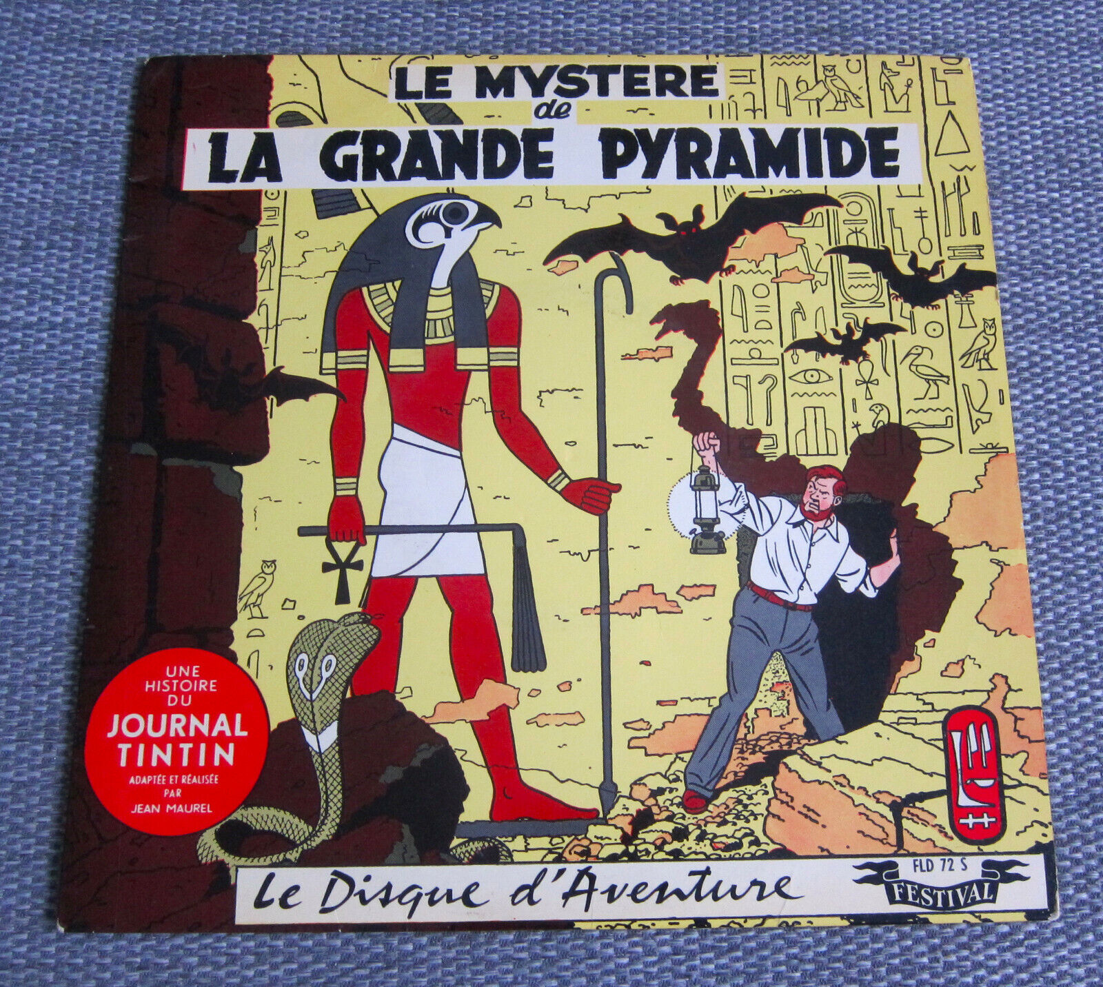 Disque 25 cm Le mystere de la grande pyramide BLAKE ET MORTIMER TINTIN FLD 72