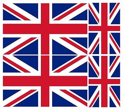 4 X UNION JACK FLAG VINYL CAR VAN IPAD LAPTOP STICKER BRITISH