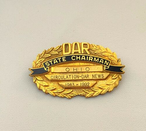DAR Daughters of The American Revolution VTG GF Ohio State Chairman News Signed