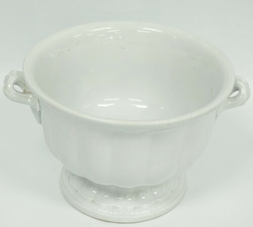 CERES WHITE IRONSTONE PUNCH/TODDY BOWL BY ELSMORE & FORSTER PANELLED SHAPE