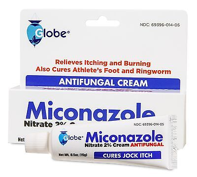 8 Tubes of  Miconazole Nitrate 2% Antifungal Cream 0.5 oz for Athletes (Miconazole Nitrate 2% Antifungal)