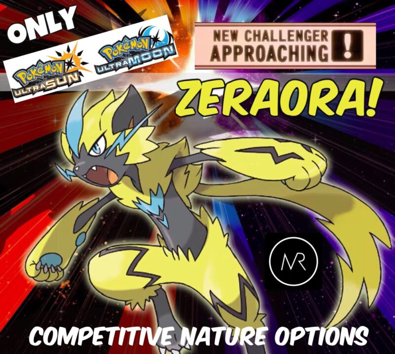 6IV Competitive Zeraora Event Pokemon Ultra Sun & Ultra Moon