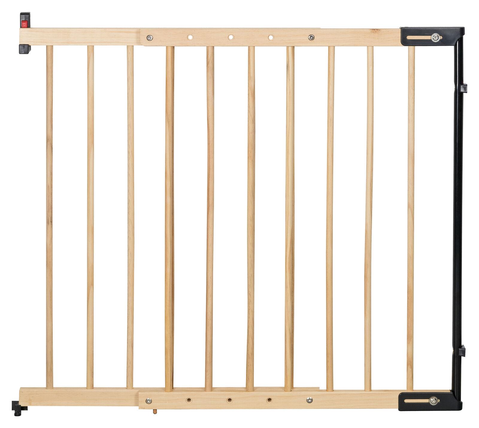 Treppenschutzgitter Clamaro verstellbar von 65 - 118 cm, universal Treppen, Tür