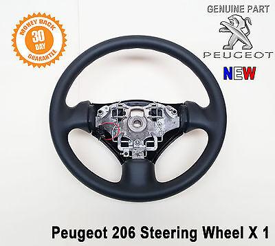 Peugeot 206 206SW Steering Wheel Black 4109LG Original Genuine Part New