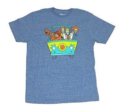 Scooby Doo Shaggy Velma Fred Daphne Mystery Machine Riding Men's T shirt ()