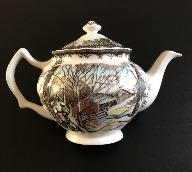 Vintage Johnson Brothers Friendly Village Teapot 4 Cup Size Excellent