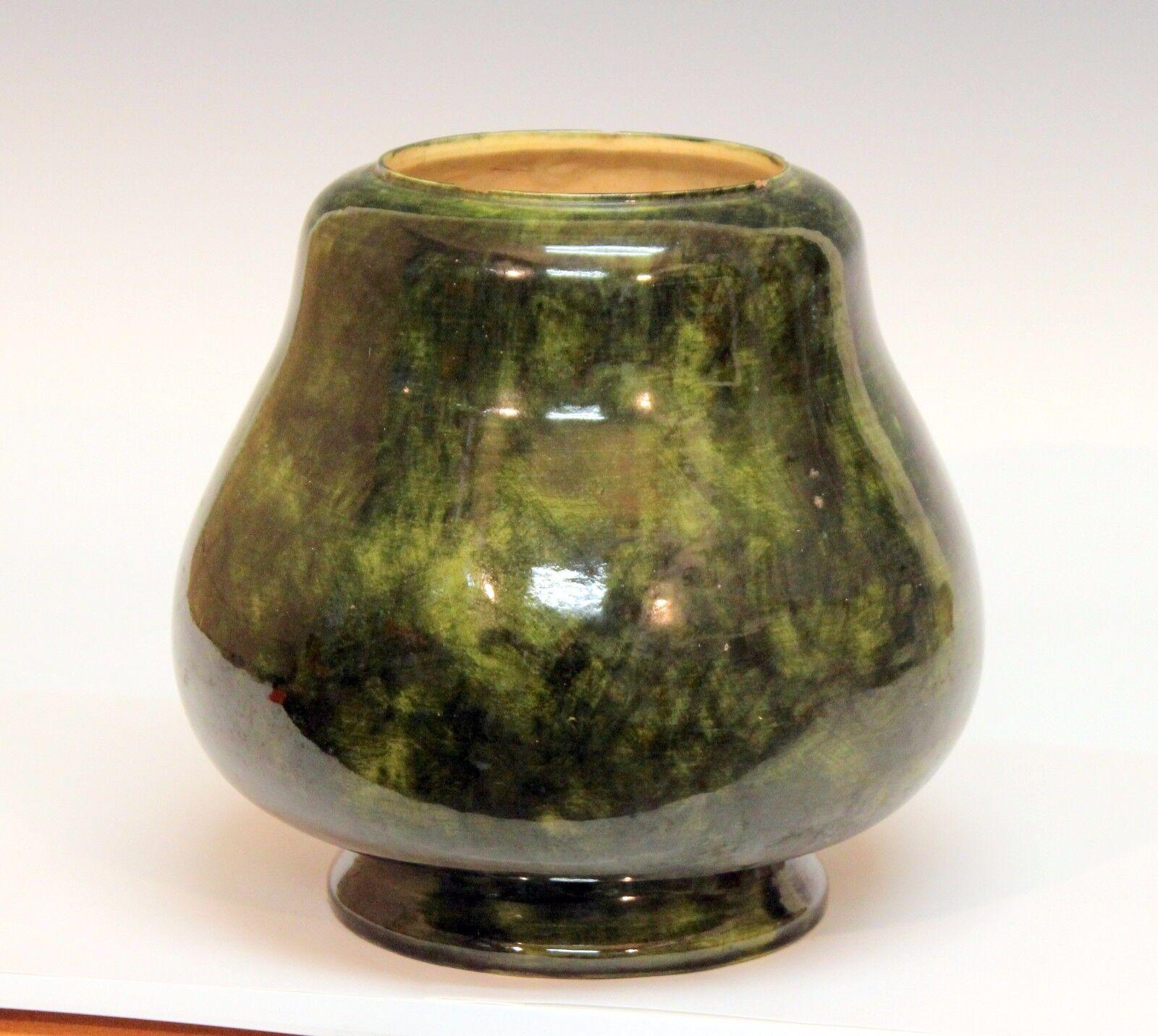Antique Old Volkmar Arts Amp Crafts Art Pottery Vase Oil Lamp Base Metuchen Nj Ebay