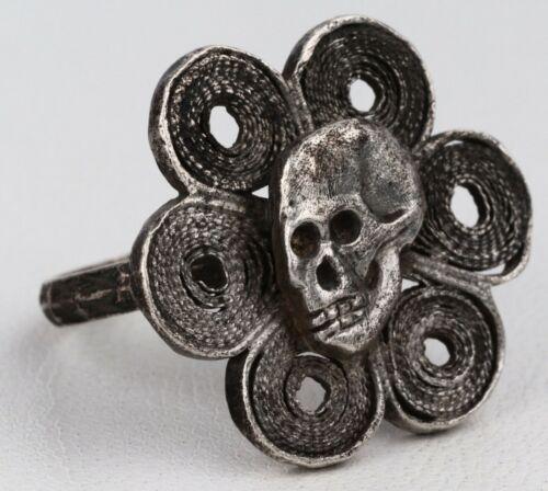 Skull RING Sterling SILVER 925 SPECIAL Force SHOCK Troop WWII ww2 Skan