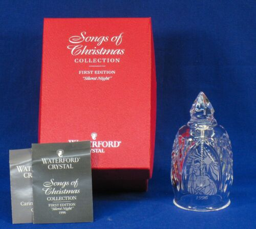 WATERFORD CRYSTAL BELL Songs Of Christmas COLLECTON 1996 SILENT NIGHT b48c ST135