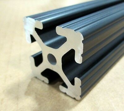 8020 Inc 1.5 X 1.5 T-slot Aluminum Extrusion 15 Series 1515 X 48 Black H1-2