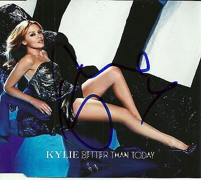 Kylie Minogue signed Better Than Today import cd single