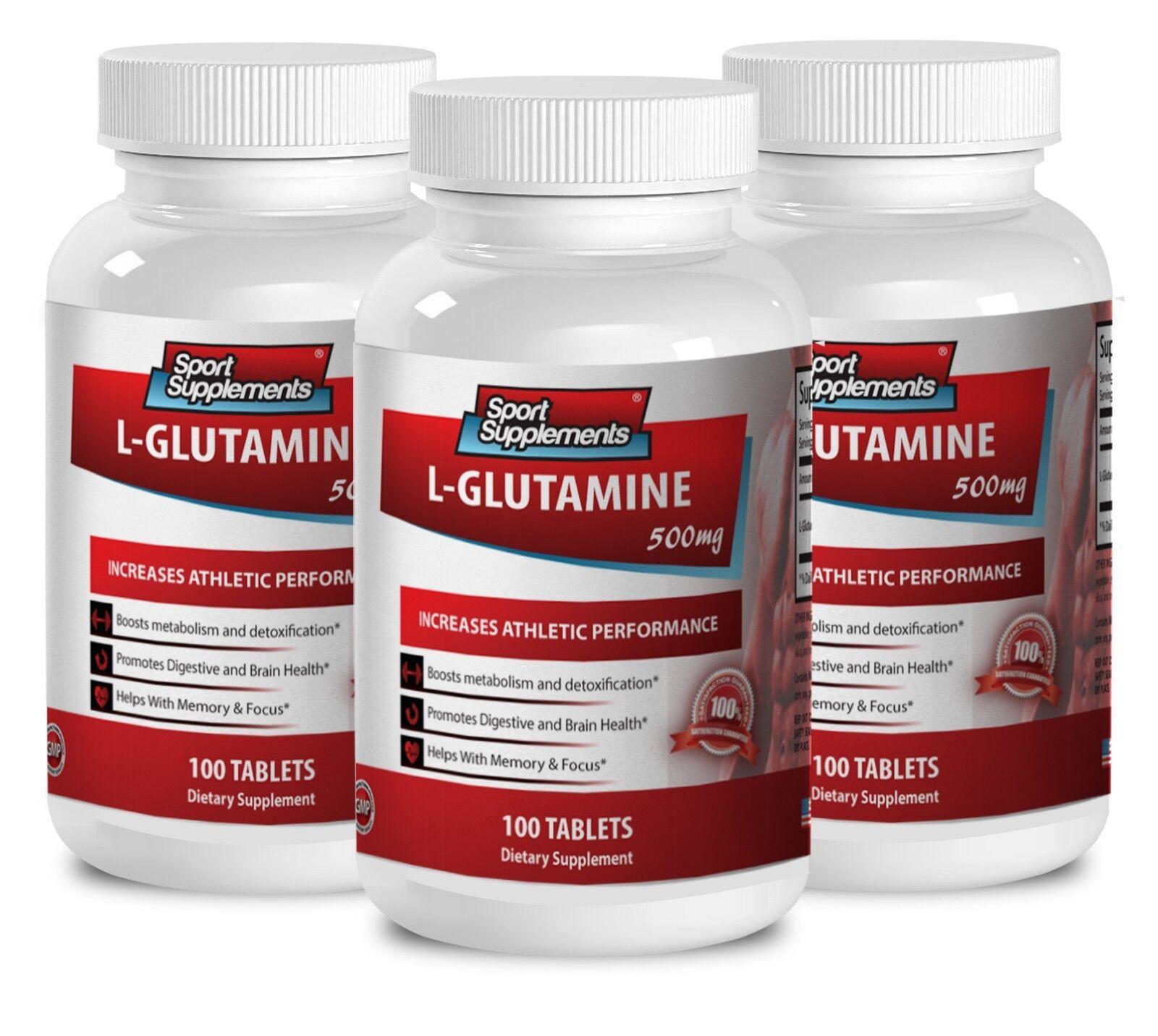 Improves Metabolism Tablets - L-glutamine 500mg - Natural...