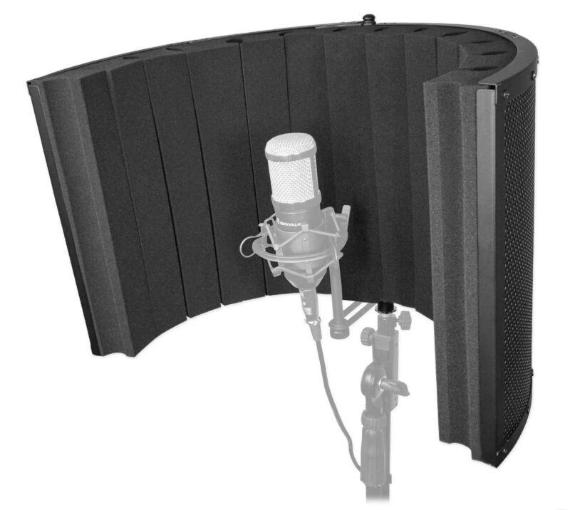 Rockville ROCKSHIELD 4 Large Studio Mic Isolation Shield Vocal Recording Booth