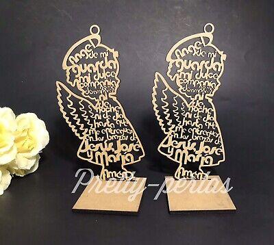 "Baptism Table Centerpieces (7""10Bautizo Party Table Decoration Wood Centerpiece Favors Supplies Girl)"