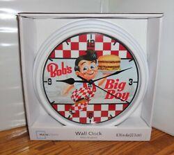 BOB'S BIG BOY WALL CLOCK # 2. 9 DIA. HAMBURGERS......FREE SHIPPING