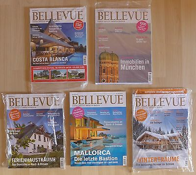BELLEVUE Zeitschriften - 2016/17 - 5 Hefte - Wohnen, Lifestyle, Immobilien - NEU