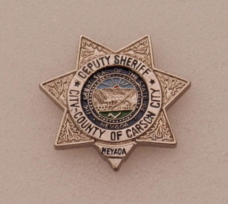 Carson City Nevada County Deputy Sheriff mini badge Lapel Pin NV police