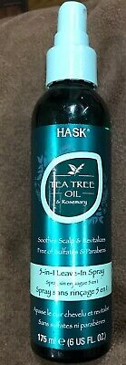 Hask Tea Tree Oil And Rosemary 3 In 1 Leave In Spray 6 Oz